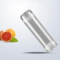 """Limpar 10 """"vazio cartucho de filtro de água recarregável inserção filtro de água habitação pode preencher di resina  carvão ativado  bolas cerâmicas water refill di water filter resin cartridge -"""