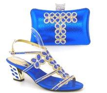 Blau Schuhe und Tasche Zu Passen Italienische Frauen Schuhe und Tasche Set italien Designer Partei Schuhe und Tasche Set Schuhe und Tasche Set Afrikanische Set