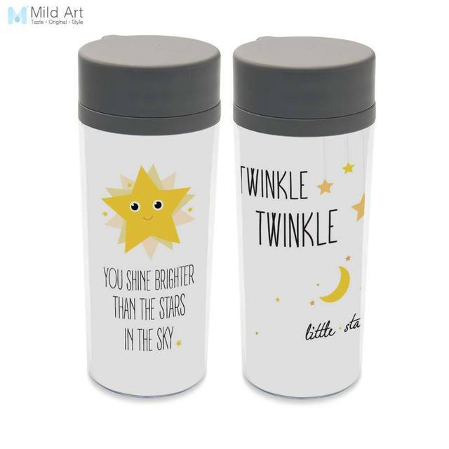 Water Bottle Quotes Shine Star Quotes Plastic Insulated Cute Kids Water Bottle 300ml  Water Bottle Quotes