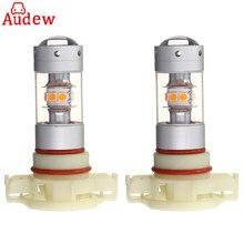 2Pcs Amber PY24W 28LED 140W Car Lamp Bulbs Universal Turn Signal Light Fog Light Bulbs