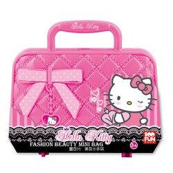 100FUN Children's Toys Girl Cosmetic Set Safety Princess Hello Kitty Makeup Box Little Girl Birthday Gift Toys For Children