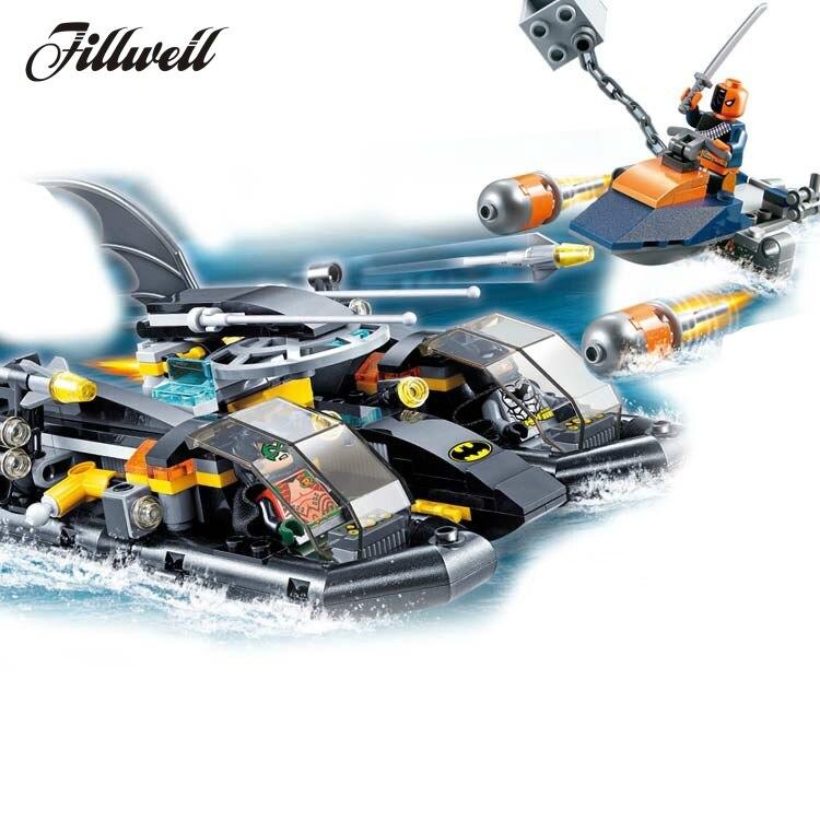 263+pcs 7113 Super Heroes action figures hobby Batman The Batboat Harbor Pursuit Building Blocks Toys compatible Legoingly 76034