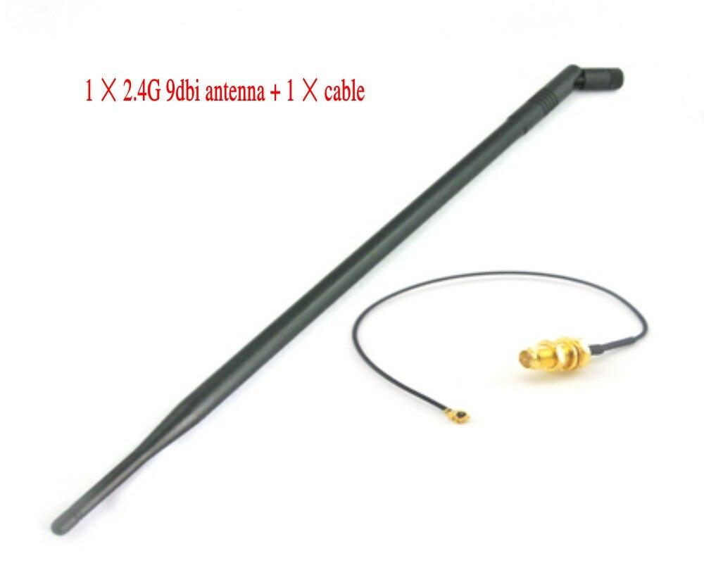 Wifi Antenne 2.4 GHz 9dbi avec RP-SMA connecteur mâle pour routeur sans fil + ipx RP-SMA Jack Broche Mâle Pigtail câble