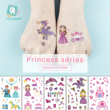 Pink Princess series Castle Design Cartoon Crystal tattoo sticker Princess Dream Children Girl temporary waterproof tatoo