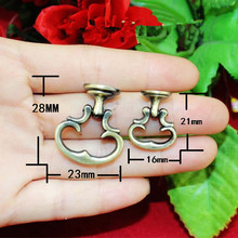 Vintage Alloy Cabinet Handles Furniture Knobs Kitchen Drawer Cupboard Ring  Pull Handles Furniture Fittings,Bronze Tone,2Pcs