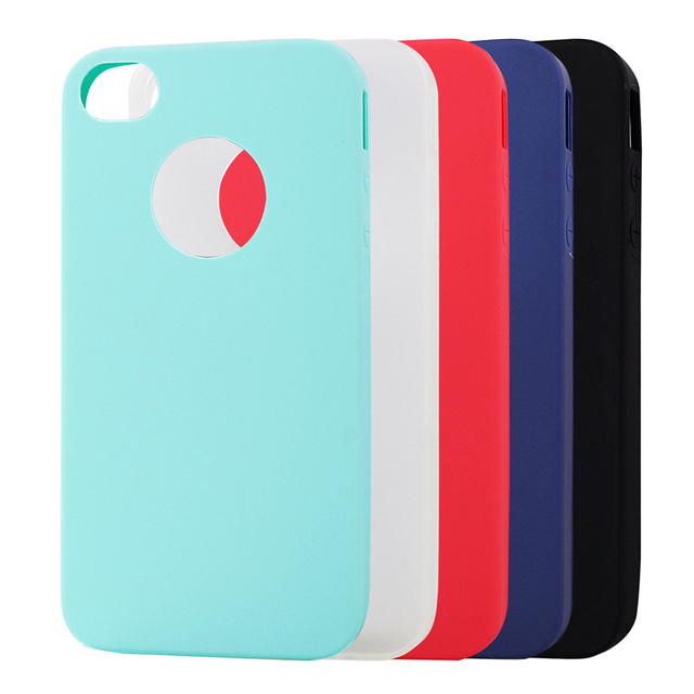 innovative design 45225 60cf4 US $1.36 20% OFF|Jderv Cute Candy Colors Case For iPhone 4S 4 Soft Silicone  Cover Couqe Phone Fundas Back Bag Case For iPhone 4S 4 Capa-in Fitted ...