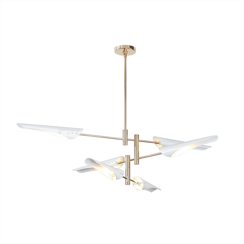 LukLoy Post Modern Fan Look Chandelier Nordic Hanging Lamp LED Pendant Lamp Loft Living Room Kitchen Suspension Light Fixture
