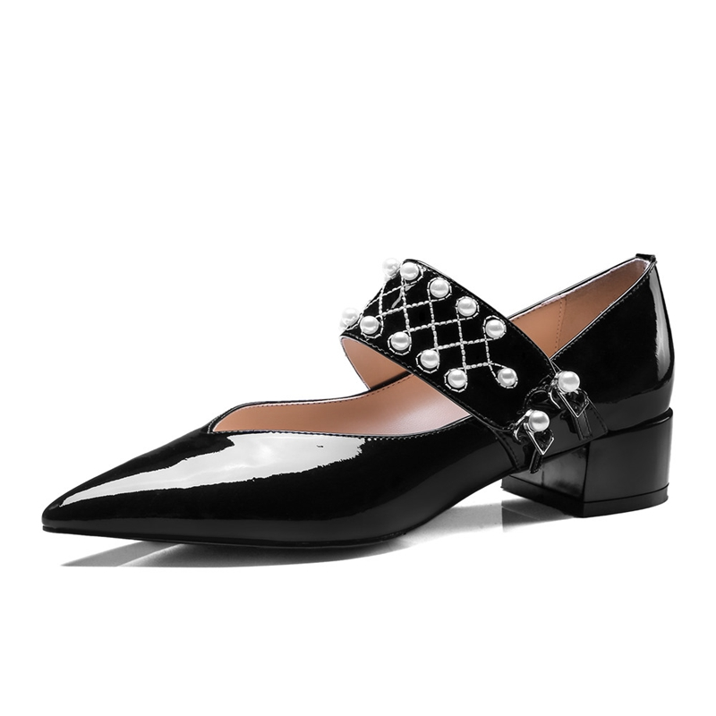 Pour Enmayla Zyl2276 Beige Dames Chaussures Taille Pointu En 40 Décontracté Pompes Sangle 34 Boucle black Cuir Véritable Bout Femmes vvRTa
