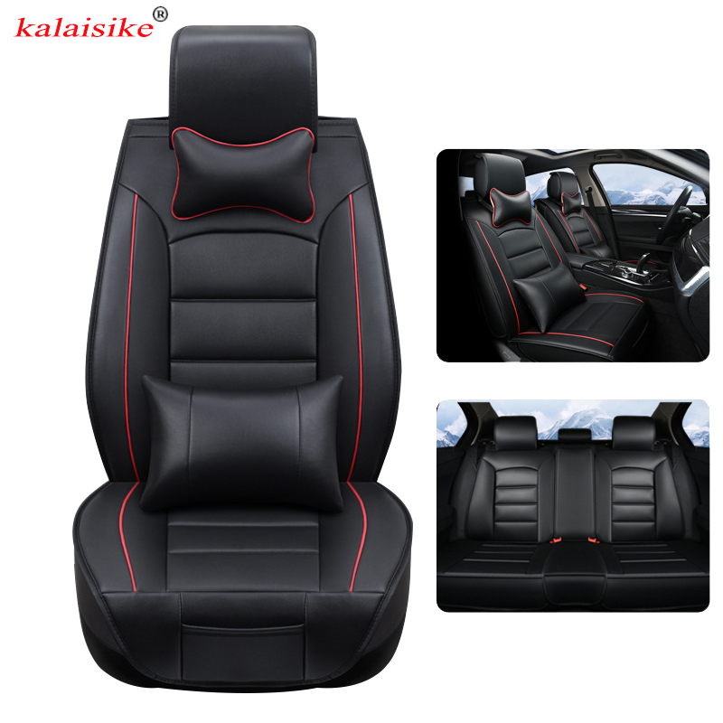 kalaisike leather Universal Car Seat Covers for Skoda all models octavia fabia superb kodiaq rapid yeti car styling accessories isudar car multimedia player automotivo gps autoradio 2 din for skoda octavia fabia rapid yeti superb vw seat car dvd player