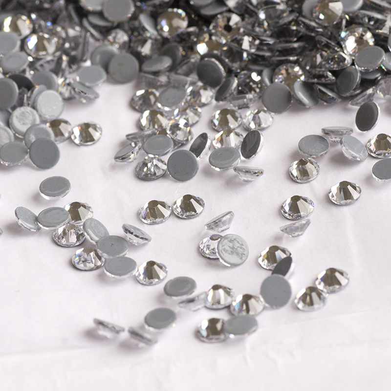 Crystal SS16 SS20 SS30 HotFix Crystals Strass Beads Clothes Bags Heat Transfer Motif Accessories Fabric Decorations in Garment Beads from Home Garden