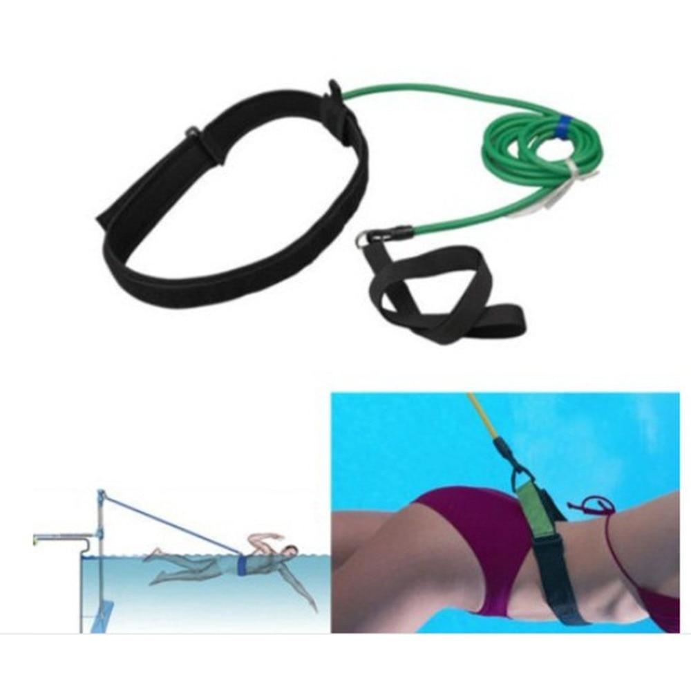 Elastic Rope Suit With Bandage Swimming Trainer Exerciser Leash Training Hip Swim Belt Kit Cord Safety Swim Resistance