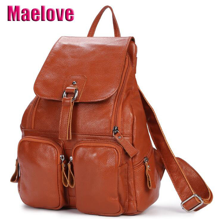 Maelove New Arrival Women bag Beg Kulit Asli Beg Backpack Cowhide leather shoulder bag Sekolah beg beg sekolah