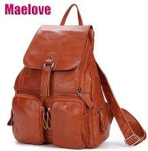 Maelove New Arrival kobiety torba torba ze skóry naturalnej plecak skóra bydlęca torba na ramię plecak szkolny ucznia