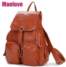 Maelove 新到着女性のバッグ本革リュック牛革レザーショルダーバッグ学生のスクールバッグバックパック