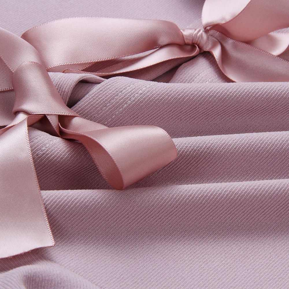 2018 новые модные весенние женские сексуальный о-вырез одежда с длинным рукавом рубашки тонкий комбинезон с оборками и бантом на спине элегантные женские топы