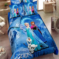 Promoción Marca Frozen Elsa Anna Edredón ropa de Cama Juegos de Cama conjunto línea de Doble/Full/Queen/King niños Sábanas de Cama