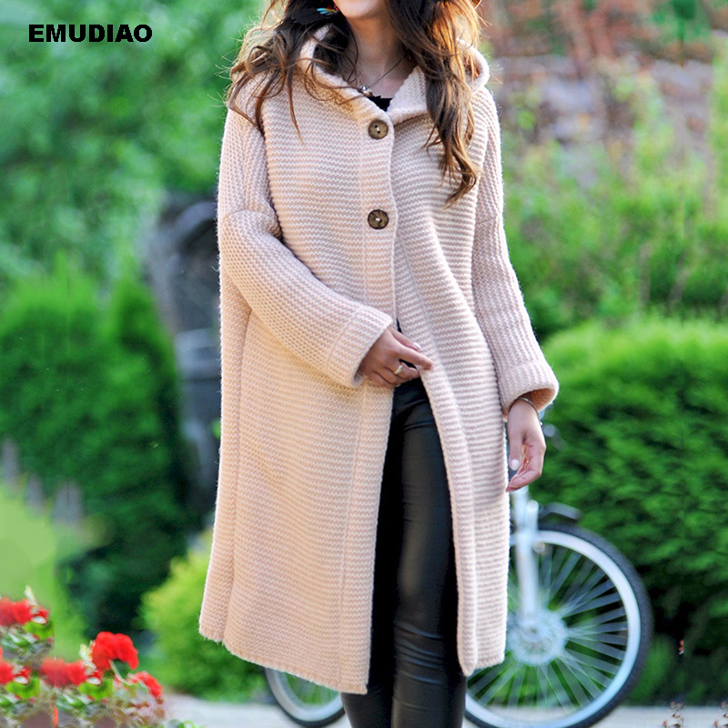 Pink Cardigan Woman Long Knitted Open Stitch Sweater Cardigans Hooded Sweater Woman Winter 2019 Autumn Plus Size Jumper Unif 3XL