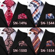 Hi-Tie Fashion Tie Hanky Cufflink Sets for Men