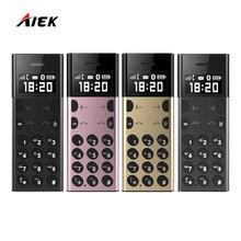 Оригинал AIEK A5 aeku A5 ультра тонкий Mini Card телефон MP3 игрока-потерянный Bluetooth Dialer синхронизации данных из металла тело излучения