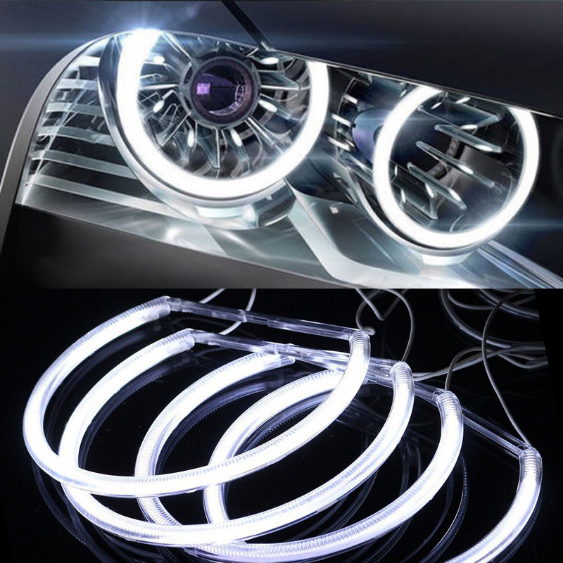 4x 131mm 146mm CCFL Angel Eye Halo Rings LED Light Set White Non-Projector For BMW E46 3 Series High brightness efficiency (12)