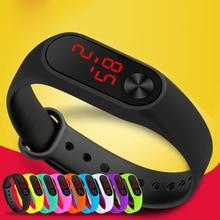 Мода влюбленных светодиод Спорт Часы Для детей наручные электронные Для мужчин открытый простой часы Для женщин цифровой браслет Часы