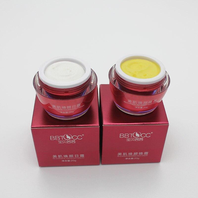 Free Shipping Melanin Removing Freckle Speckle Whitening Anti Wrinkle Day Cream+Night Cream Dark Spot  Acne TreatmentCream Set