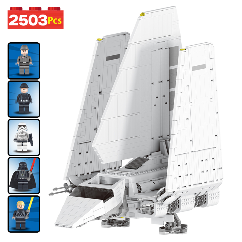 Technic Compatible LegoINGLYS Star Wars Series Space Fighting Imperial Shuttle Large Building Blocks Toys for Kids 2503 PCS 2503pcs large star wars sets imperial shuttle spacecraft the space battle building block toys kits best technic toys for kids