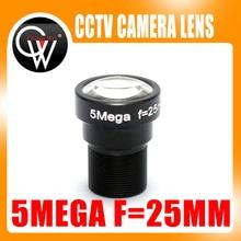 5 Megpixel 25mm M12 MTV F1.8 HD CCTV Camera Lens IR 5mp 25mm HD Security Camera Lens Fixed Iris for HD IP Camera