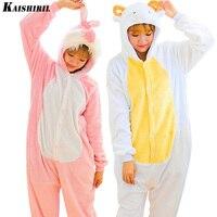 Pyjamas Women Kigurumi Pajamas Animal Onesie Cartoon Adult Onesies Lovely Rabbit Sheep Nightgown Unisex Couple Anime