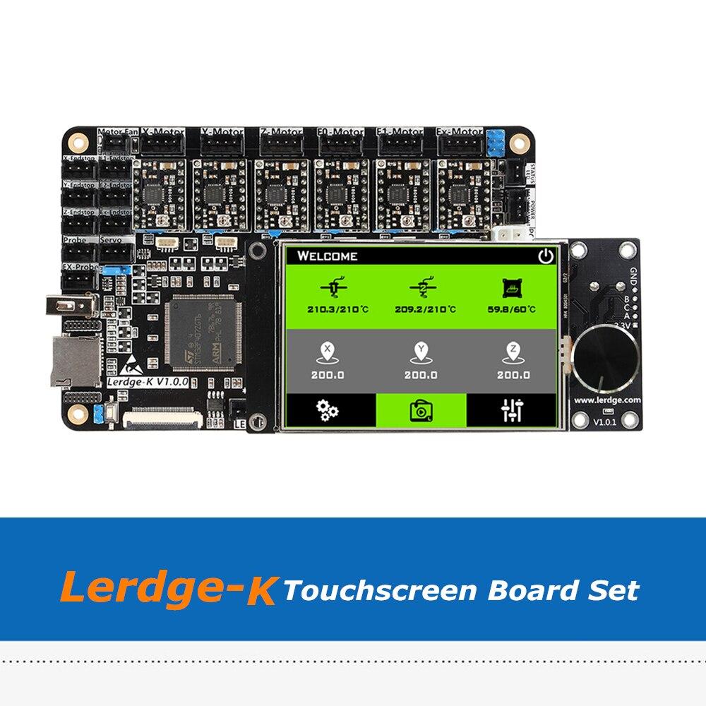 3D Printer Motherboard Lerdge K 3.5inch Touchscreen  ARM 32-bit Controller Board Set With A4988/Drv8825/TMC2208/LV8729 Driver