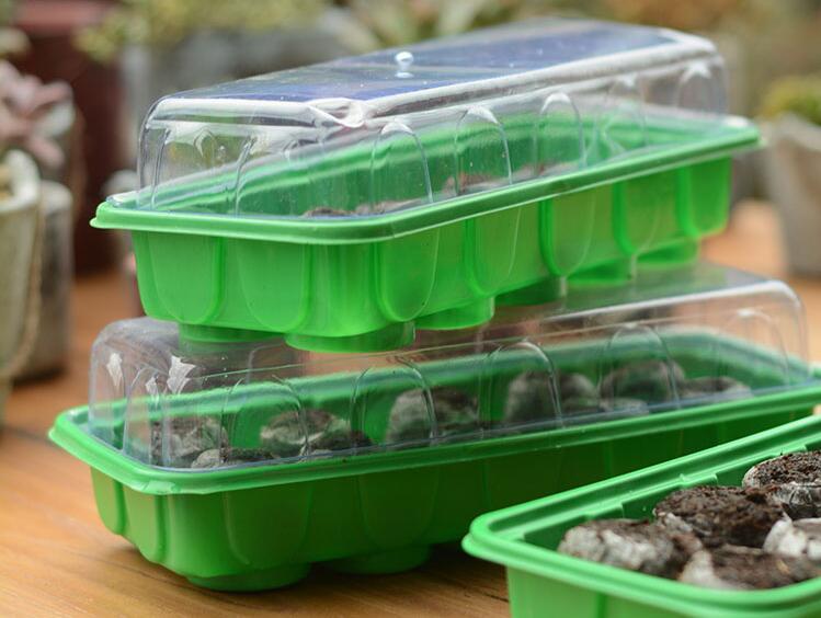 Free shipping,3set,Jiffy Peat Pellets+10 hole plastic pot,Seeds Starting Plugs Nursery t ...