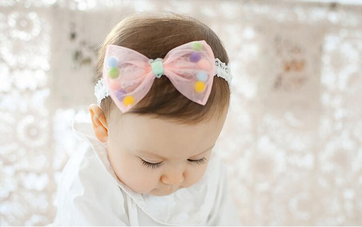 1 Piece MAYA STEPAN Headwrap Bowknot Baby Headwear Girls Hair Bow Hairband Head Band Infant Newborn Bows Toddlers Lace Headbands