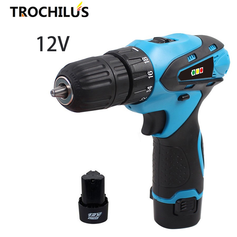 High quality 12V power tool Cordless electric drill Multi-function mini drill screwdriver with lithium battery * 2 high quality screwdriver combination set unique telescopic function