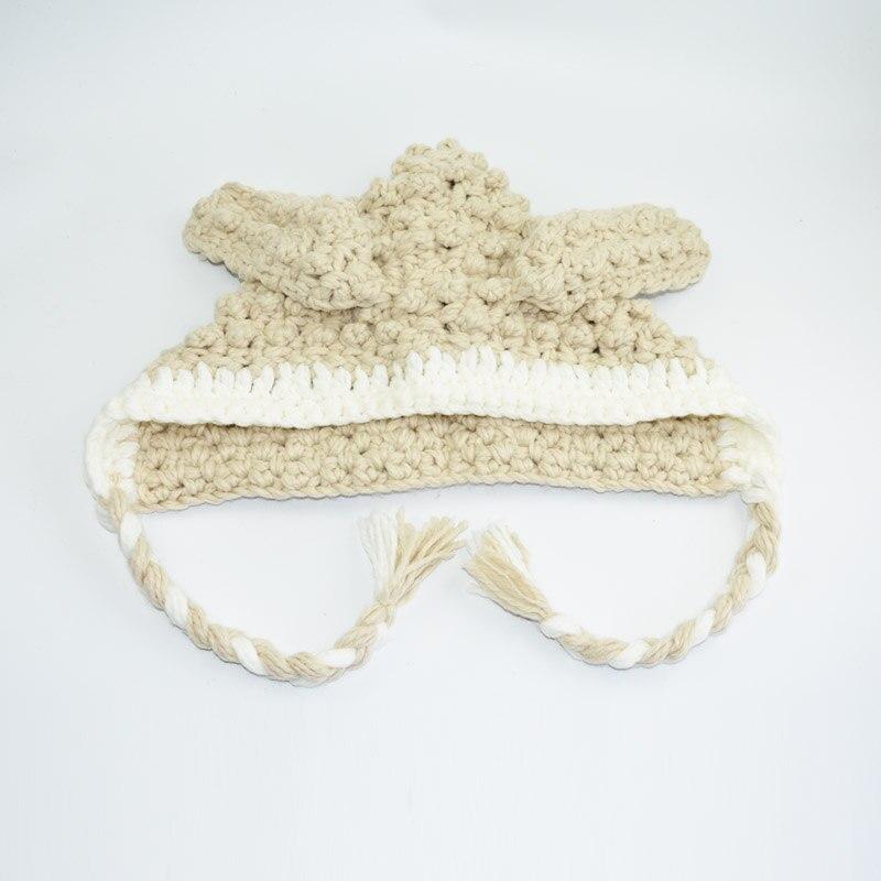 Ganchillo hecho a mano de los niños Cordero sombreros de invierno ...