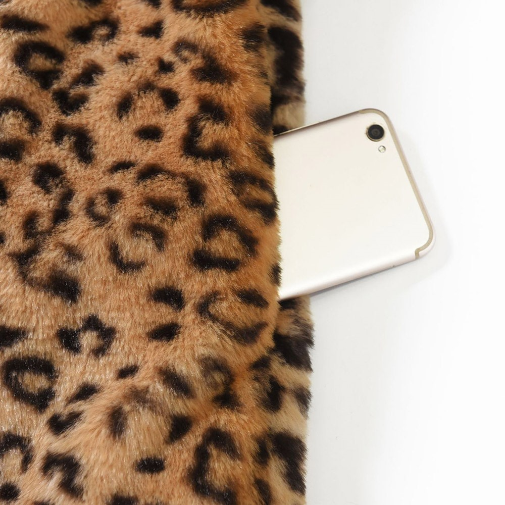 Style Boho Plus Women Leopard Warm Female Winter Sexy Overcoats Coats Size Casual Lady 2018 Korean Fashion Loose Office RwIE8qRxp