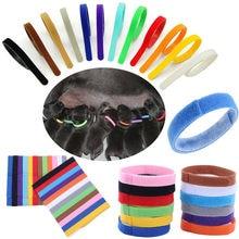 Preço baixo 12 cores identificação id coleiras bandas filhote de cachorro filhote de cachorro gatinho cão de estimação gato veludo prático filhote de cachorro id colar