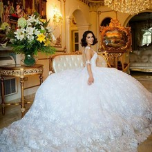 kejiadian 2019 Ball Gown Wedding Dress chapel train
