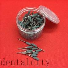 Pulidor de fresas para laboratorio Dental, cerámica de grava meium FG, surtido de 100 Uds., color rosa/Blanco/verde, 2,35mm