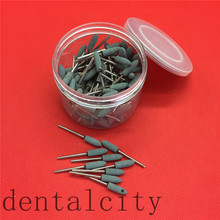 Rosa/Bianco/Verde 100 Pcs Assortiti Dental Lab Ghiaia Ceramica Meium Fg Frese Lucidatore 2.35 Millimetri