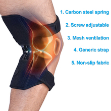 New Knee Joint Support Pads Powerful Rebound Spring Force Knee Booster Breathable Non-slip Lift Knee Pads 1 2 pair joint support knee pads breathable non slip power lift joint support knee pads powerful rebound spring force knee