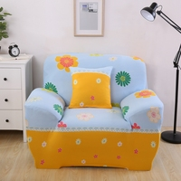 Yellow Blue Color Floral Design Sofa Covers Slipcovers For Living Room Elastic Sofa Cover Sofa All