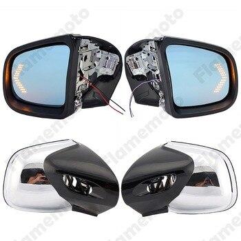 Para BMW K1200 K1200LT K1200M 1999-2008 cromo motocicleta espejo intermitente luz LED de intermitente espejos retrovisores Moto retrovisor