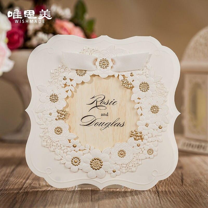 Elegant Wedding Invitations Ribbon Promotion Shop For Promotional