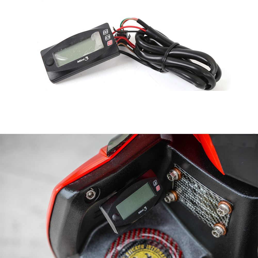 Motorcycle Universal Multi-Function Digital Motorcycle voltmeter Meter Thermometer Meter Time Meter For Racing Scooter BWS 125