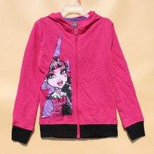 6pcs/lot,7-16yrs,original monster teanager girl Outerwear,high school big girl long sleeve hoodie jacket sweatshirt coat