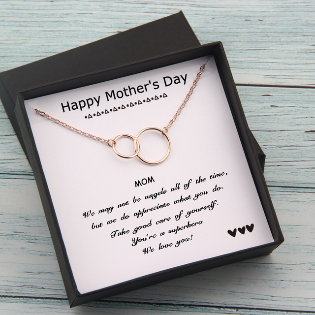 Circles Necklace  Happy Mother's Day Gifts Card  2