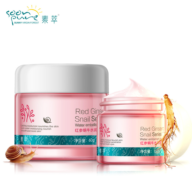 Real Direct Selling Soon Pure Red Ginseng Snail Cream&Eye Cream Skin Care Female Anti-aging Blain Remove Cream Freeshipping