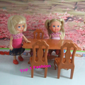 New arrival birthday gift for girls play house 1/12 mini doll furniture dinner table for mini kelly barbie doll