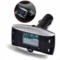 1.5 ''LCD Kit De Voiture Lecteur MP3 Bluetooth Transmetteur FM Modulator SD MMC USB À Distance May30 Usine prix 2017