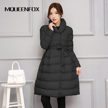 Winter Jacket 2019 New Women Long Section Parka Outwear Warm Thick Cotton Padded Jacket Coat Female Casual Plue Size Winter Coat(China)